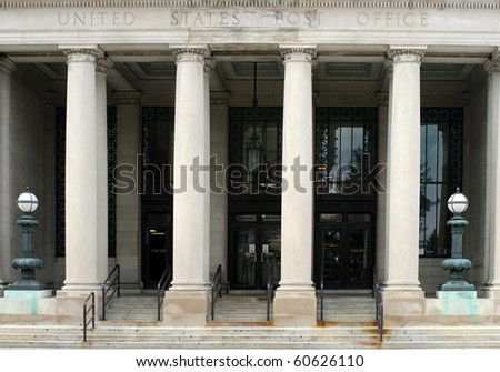 Post Office Portico - stock photo