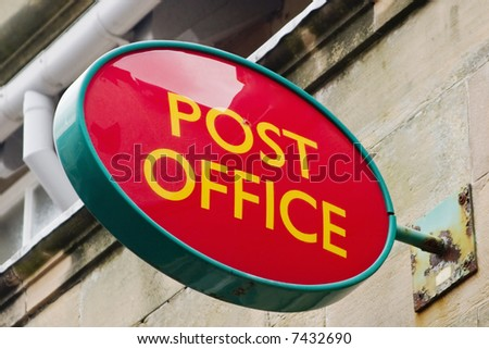 Post Office sign on the wall