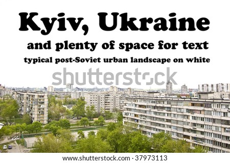 Post-Soviet Urban Landscape on White