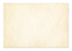 Postage stamp frame isolated. Clipping path is included.