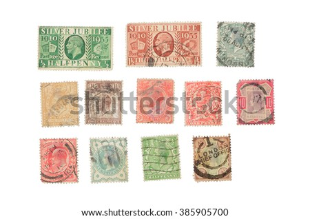 postage stamp isolated on a white background #385905700