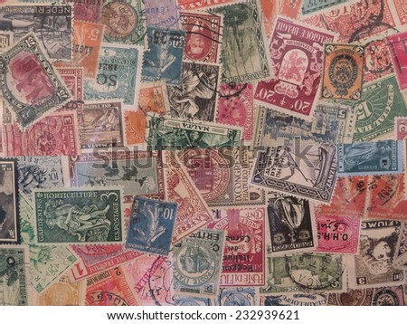 postage stamps from different countries