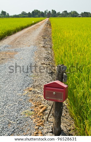 Postbox in countryside