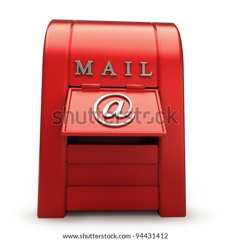 Postbox isolated on white background  3d illustration