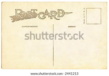 Postcard 1911 - stock photo