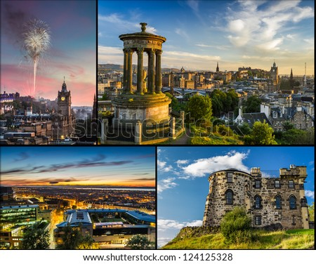 Postcard from Edinburgh in summer