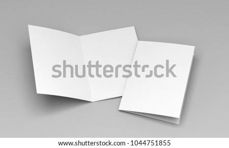 postcard white template 3d illustration