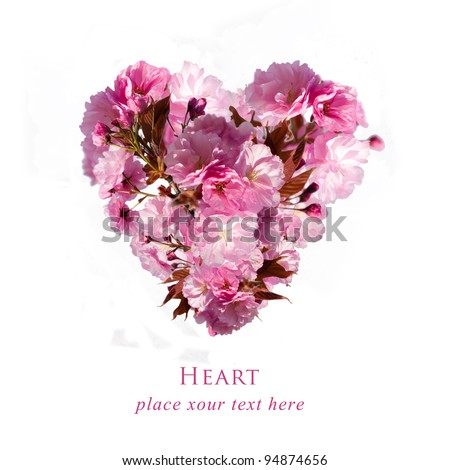 postcard with floral heart