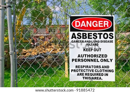 Posted Asbestos on Fence