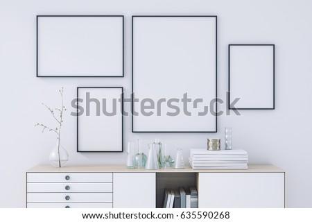 Poster frame mockup Stock photo ©