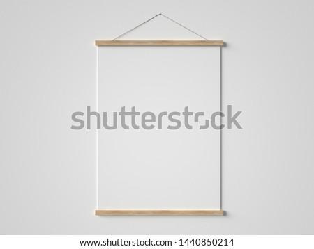 Poster frame mockup 3D render Photo stock ©
