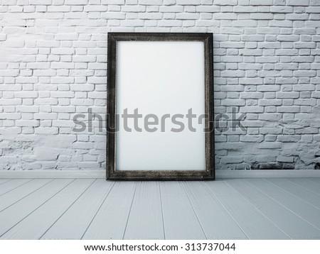 poster in a black frame...