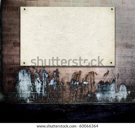 Poster On Grunge Real Wall