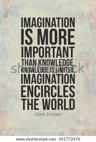 Poster with motivational quote by Albert Einstein