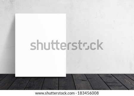 Poster with wood floor #183456008