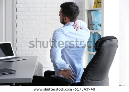 posture concept. man suffering...