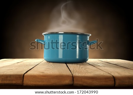 pot and brown space