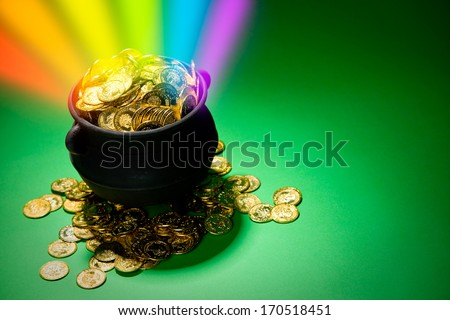 Pot Of Gold: Magical Treasure with Rainbow