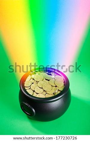 Pot Of Gold: Rainbow Leads to Leprechaun Treasure