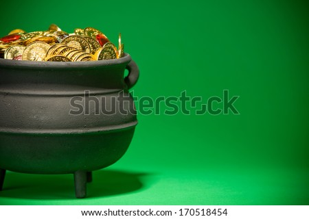 Pot Of Gold: Treasure Of Gold Coins and Jewels