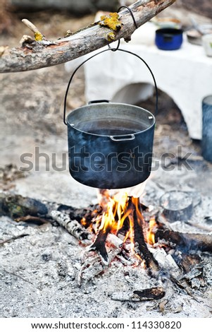 pot over fire