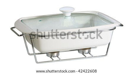 Pot with candle and tempered glass cover