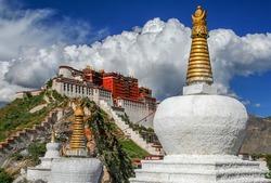 Potala Palace in summer,  Lhasa, Tibet, Himalayan Asia