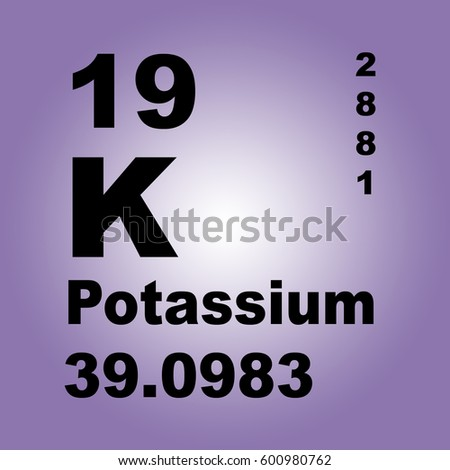 Iconswebsite icons website search icons icon set web icons healthy lifestyle and diet vector illustration with potassium periodic table of elements urtaz Gallery