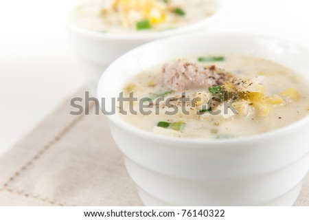 Potato and Leek Soup with Cream