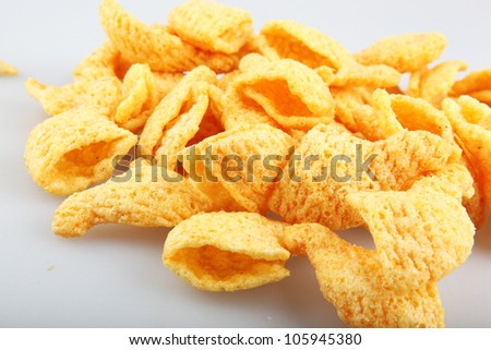 Potato chips. - stock photo