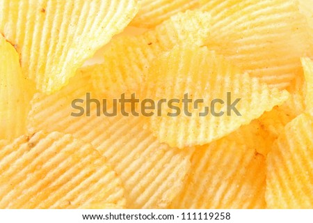Potato chips background