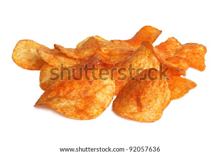 Potato chips in paprika flavor