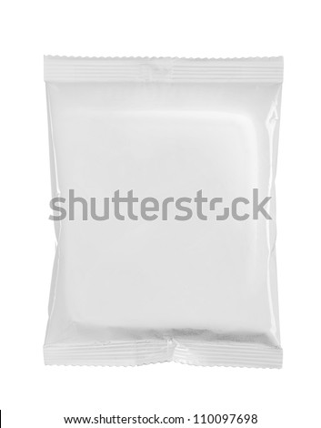 potato chips plastic bag. isolated over white background