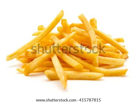 potato fry on white isolated background ストックフォト ©