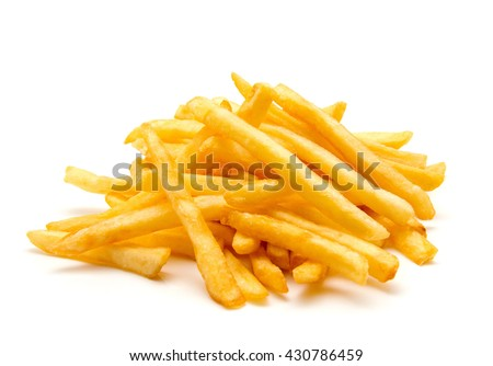 Shutterstock potato fry on white isolated background