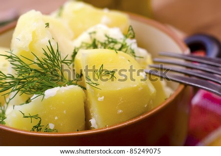 potato in plate