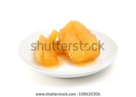 potato in sugar syrup