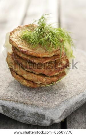 potato pancakes on stone