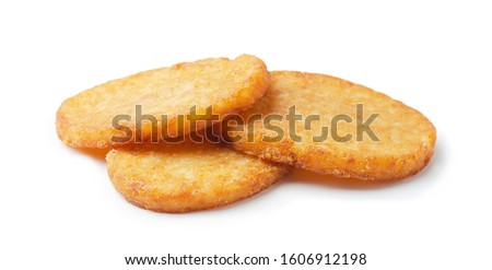 Potato patties or hash browns oval-shaped isolated on white background Stock photo ©