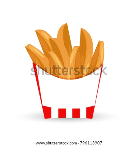 potato wedges illustration design isolated over a white background