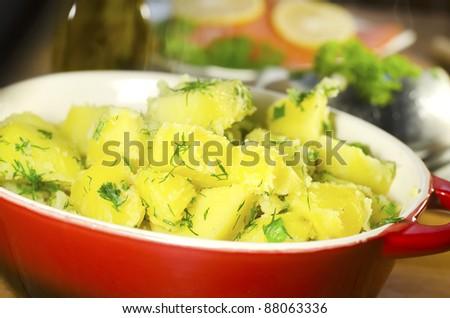 potato with salmon