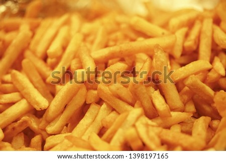 Potatoe chips (French fries) - Close up picture