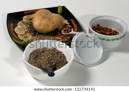 potatoes and spices