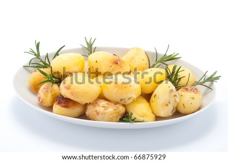 Potatoes in the dish