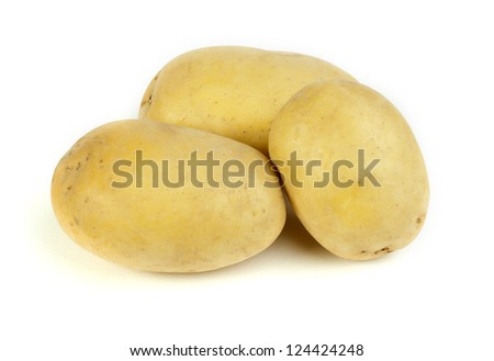 Potatoes white isolated