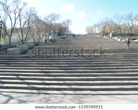 potemkin stairs at odessa port #1539590921