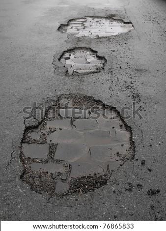 potholes  / road damage