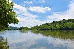 Potomac River, Chesapeake and Ohio Canal National Historical Park,  Maryland, USA, June 13, 2020
