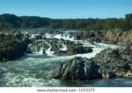 Potomac River - Great Falls, VA (View from the belvedere #3 on the Virginia side)
