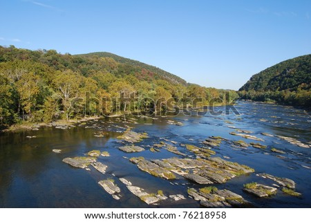 Potomac River in Harpers Ferry, West Virginia